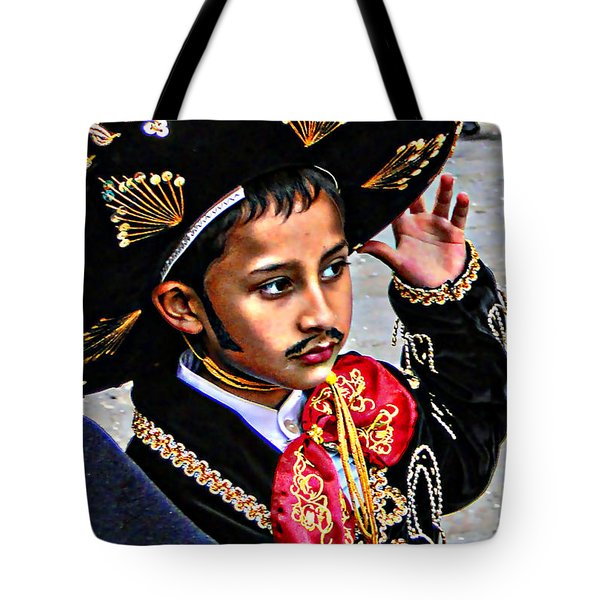 Tote Bag featuring the photograph Cuenca Kids 897 by Al Bourassa