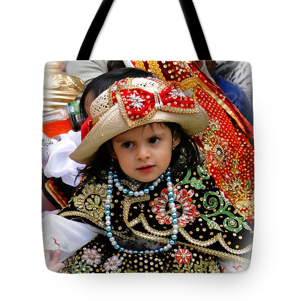 Tote Bag featuring the photograph Cuenca Kids 900 by Al Bourassa
