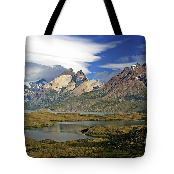 Cuernos Del Pain And Almirante Nieto In Patagonia Tote Bag