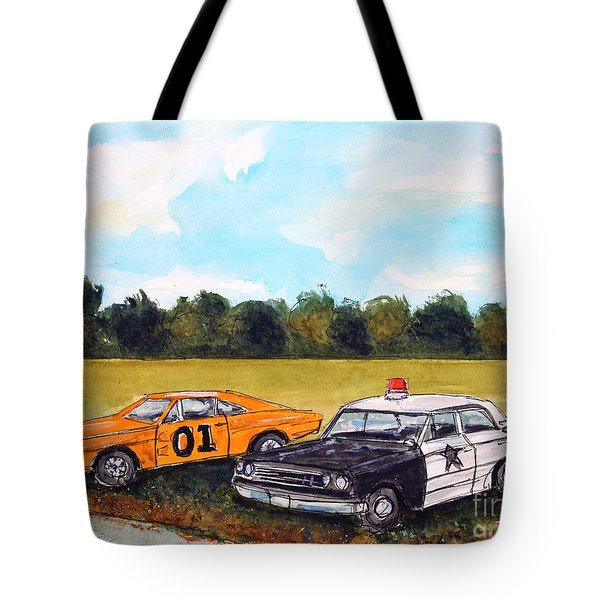 Cuff Em N Stuff Em Tote Bag by Tim Ross