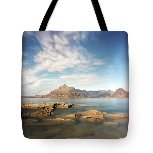 Cuillin Mountain Range Tote Bag by Grant Glendinning