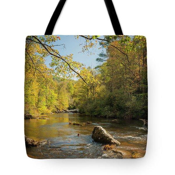 Cullasaja River Nc Tote Bag