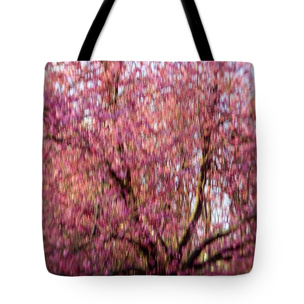 Tote Bag featuring the photograph Columnar Sargent Cherry 2 by Bernhart Hochleitner