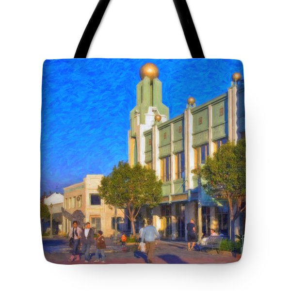 Tote Bag featuring the photograph Culver City Plaza Theaters   by David Zanzinger