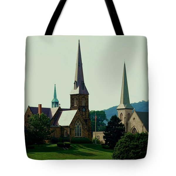 Cumberands Steeples Tote Bag by Eric Liller
