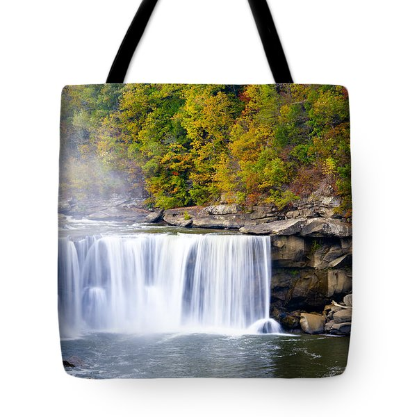Cumberland Falls Tote Bag by Alexey Stiop