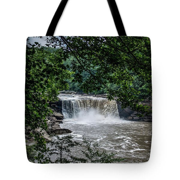 Tote Bag featuring the photograph Cumberland Falls by Joann Copeland-Paul