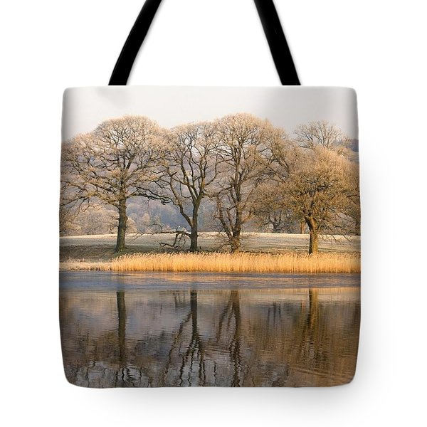Cumbria, England Lake Scenic With Tote Bag by John Short
