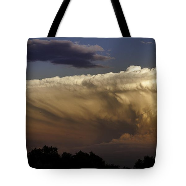 Cumulonimbus At Sunset Tote Bag by Jason Moynihan