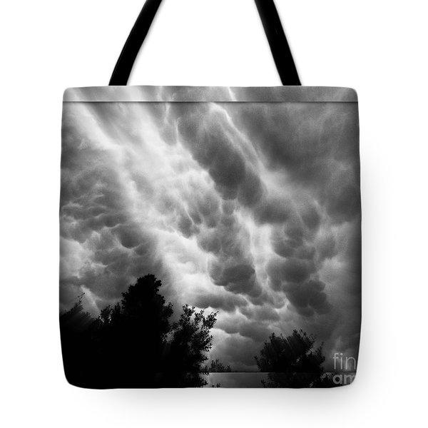 Cumulonimbus Clouds Over Cagliari Tote Bag