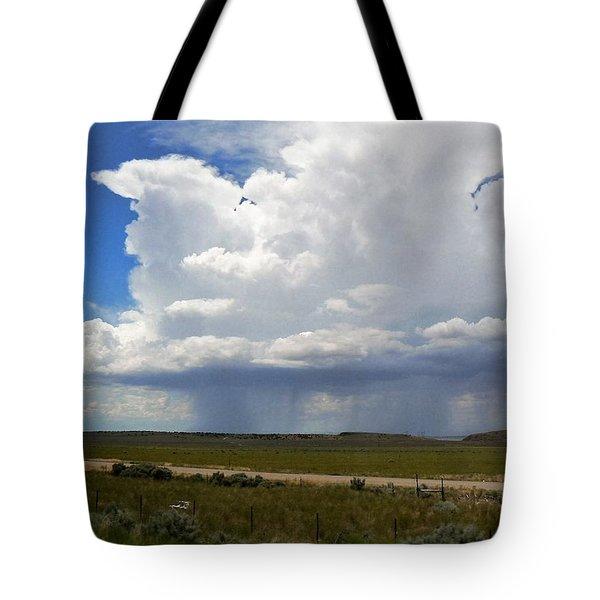 Cumulonimbus Rain Cloud Tote Bag