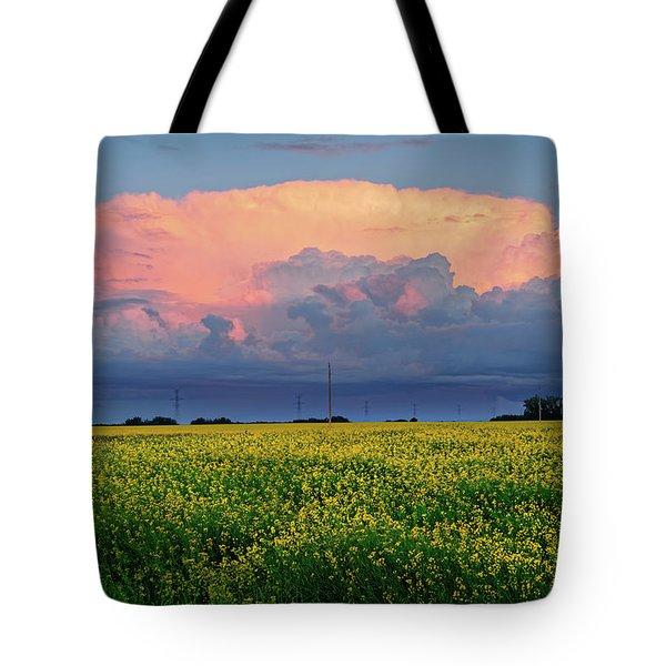 Cumulus And Canola Tote Bag
