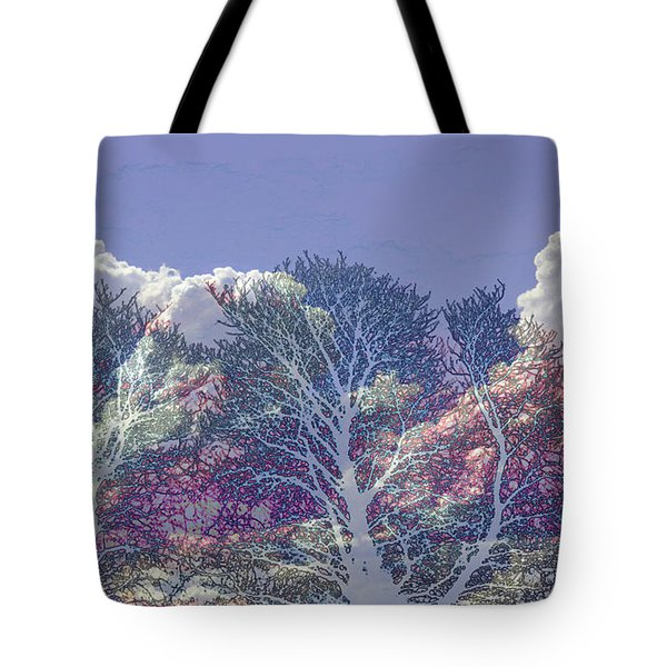 Tote Bag featuring the photograph Cumulus And Trees by Nareeta Martin