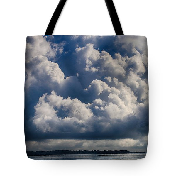 Tote Bag featuring the photograph Cumulus Over The River by William Selander