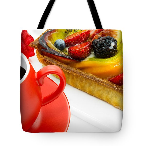 Cup Of Coffee And  Fruit Cake Tote Bag
