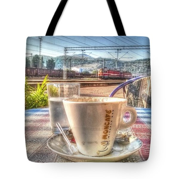 Cup Of Coffee On A Sunny Day Tote Bag by Yury Bashkin