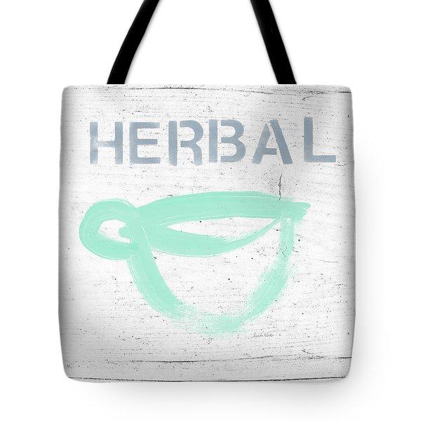 Cup Of Herbal Tea- Art By Linda Woods Tote Bag