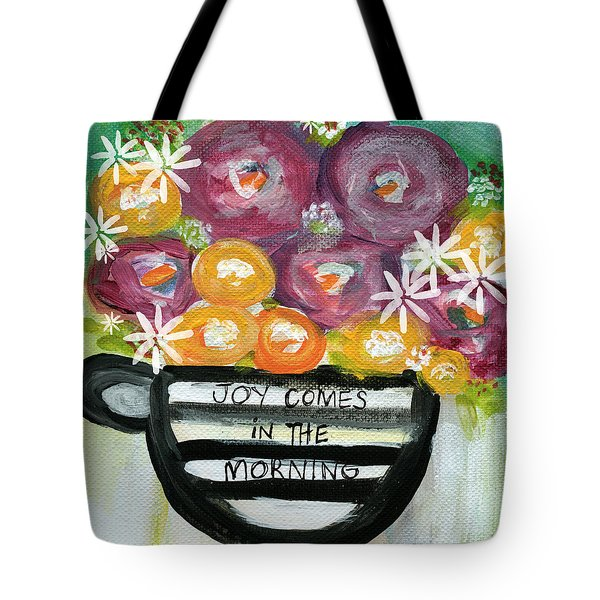 Cup Of Joy 2- Contemporary Floral Painting Tote Bag