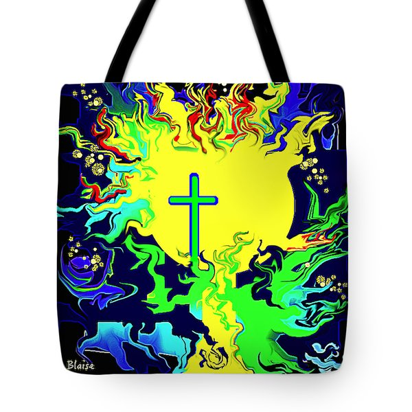 Cup Of Salvation Tote Bag by Yvonne Blasy