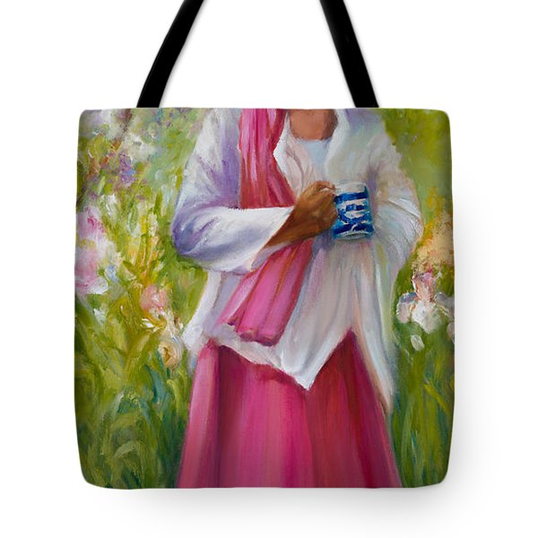 Cup Of Tea? Tote Bag by Jane Woodward