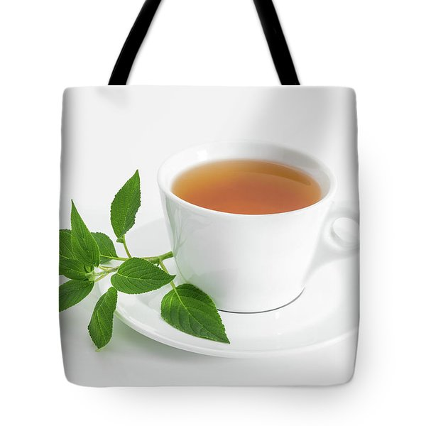 Cup Of Tea With Fresh Mint Tote Bag