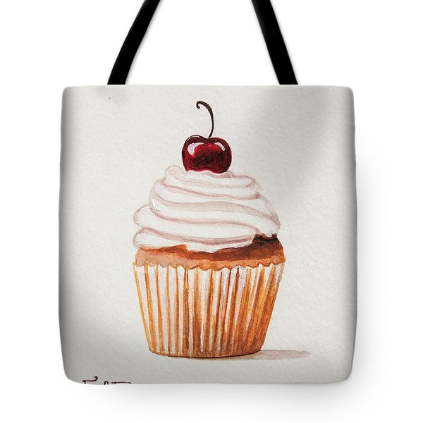 Cupcake With A Cherry On Top Please Tote Bag by Elizabeth Robinette Tyndall