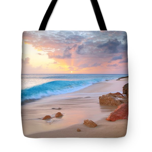 Cupecoy Beach Sunset Saint Maarten Tote Bag by Roupen  Baker