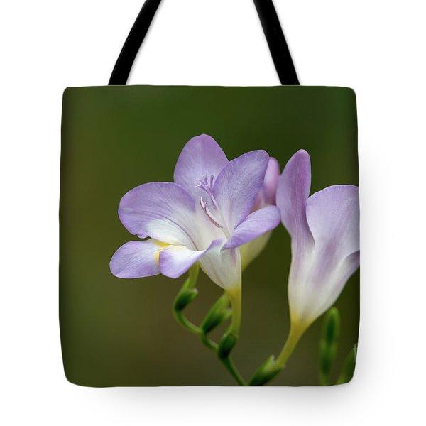 Cupertino Lavender Freesias Tote Bag