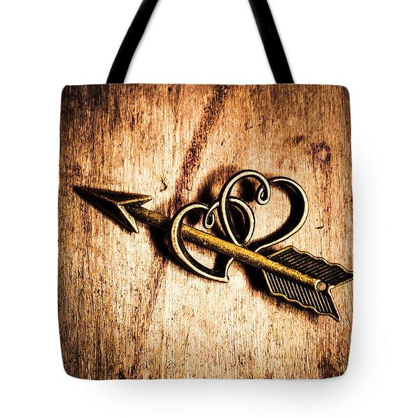 Cupid Arrow And Hearts Tote Bag