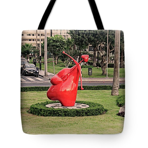 Tote Bag featuring the photograph Cupid's Heart  by Mary Machare