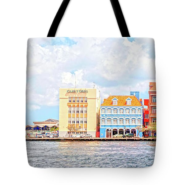 Tote Bag featuring the photograph Curacao Awash by Allen Carroll