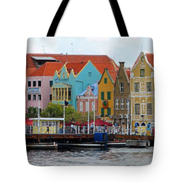 Curacao Willemstad Panorama Tote Bag by Eva Kaufman
