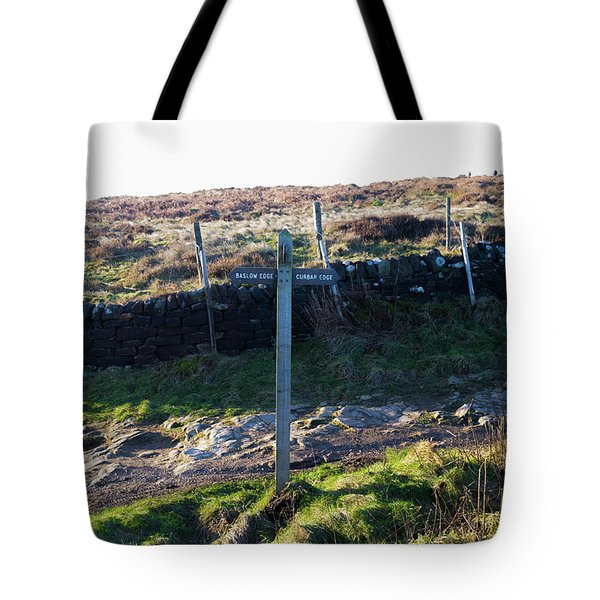 Curbar Edge Which Way To Go Tote Bag