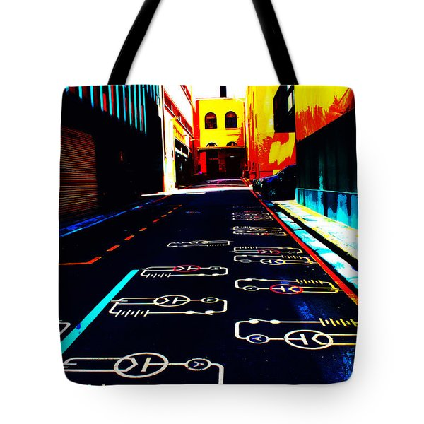 Curcuit City Tote Bag