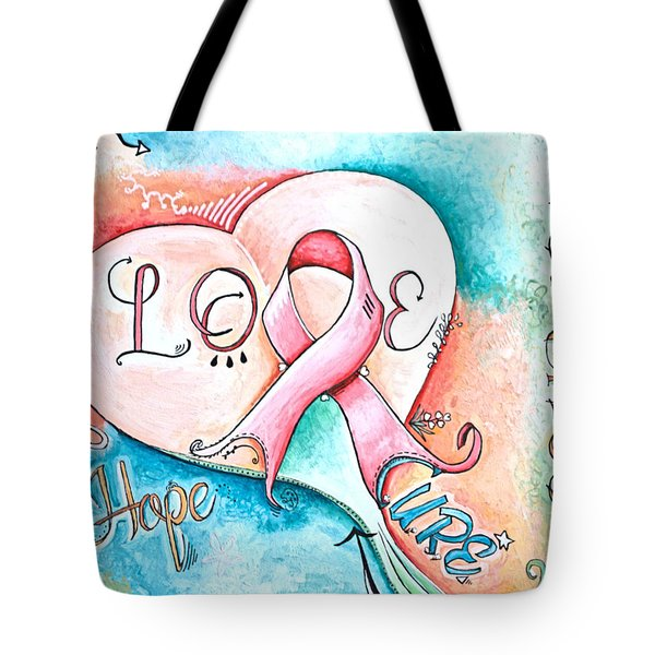 Cure Breast Cancer Tote Bag