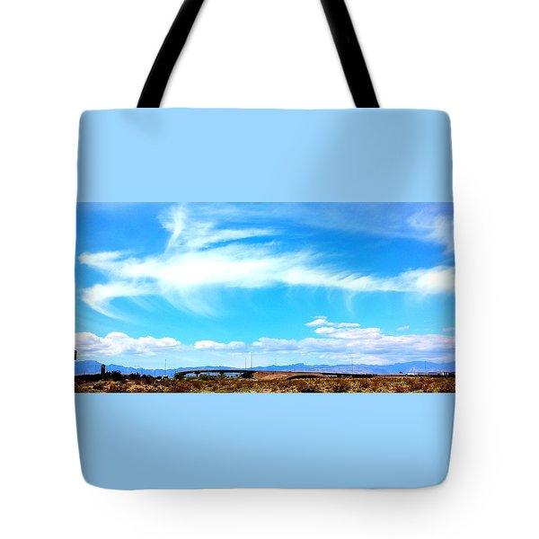 Dragon Cloud Over Suburbia Tote Bag