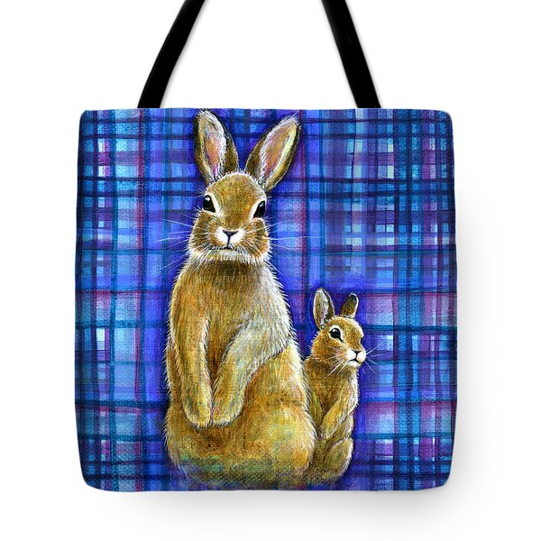 Tote Bag featuring the painting Curiosity by Retta Stephenson