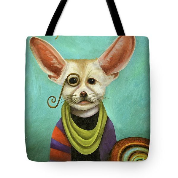 Curious As A Fox Tote Bag by Leah Saulnier The Painting Maniac