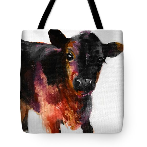Buster The Calf Painting Tote Bag