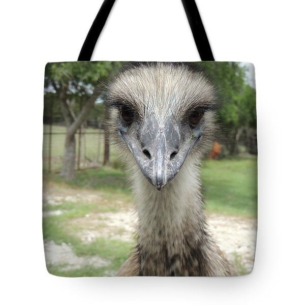 Curious Emu At Fossil Rim Tote Bag