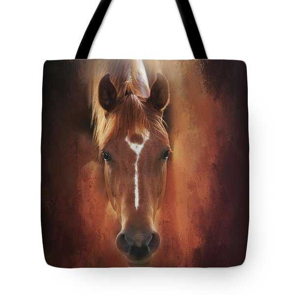 Tote Bag featuring the photograph Curious Gaze  by Toni Hopper