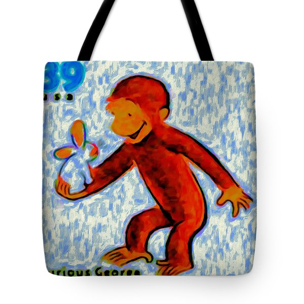Curious George Painting by Lanjee Chee