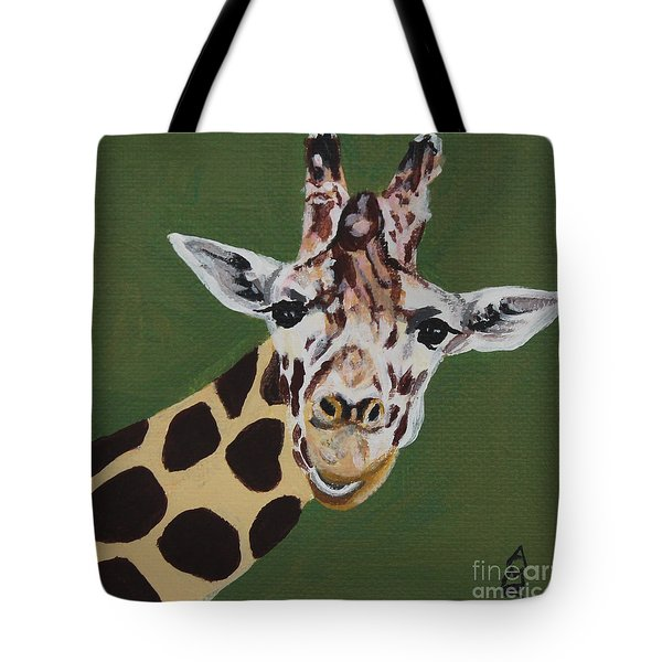 Curious Giraffe Tote Bag