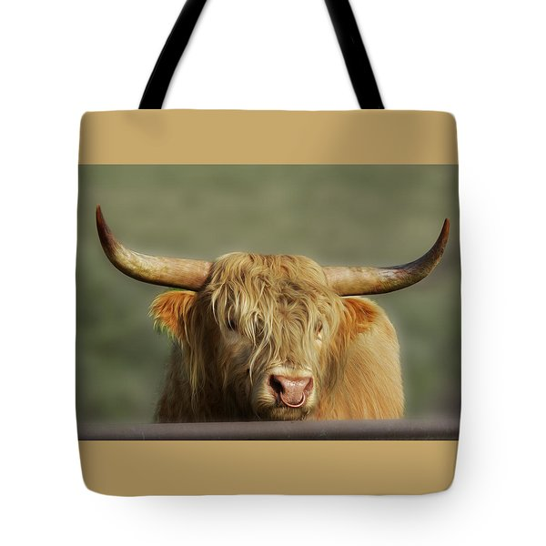 Curious Highlander Tote Bag