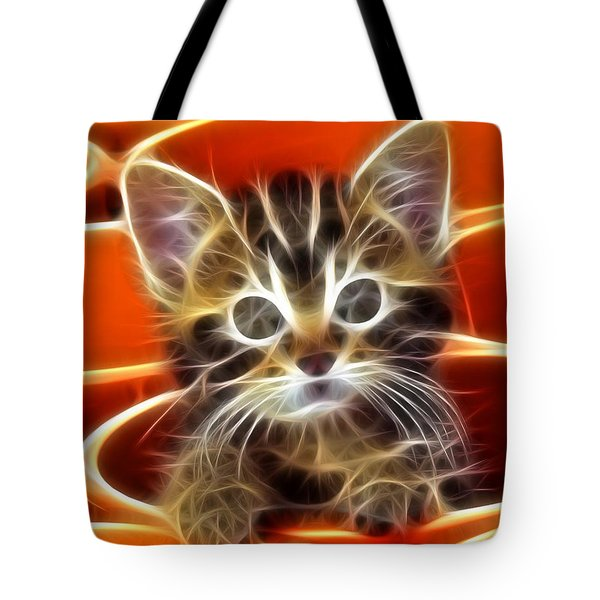 Curious Kitten Tote Bag by Pamela Johnson