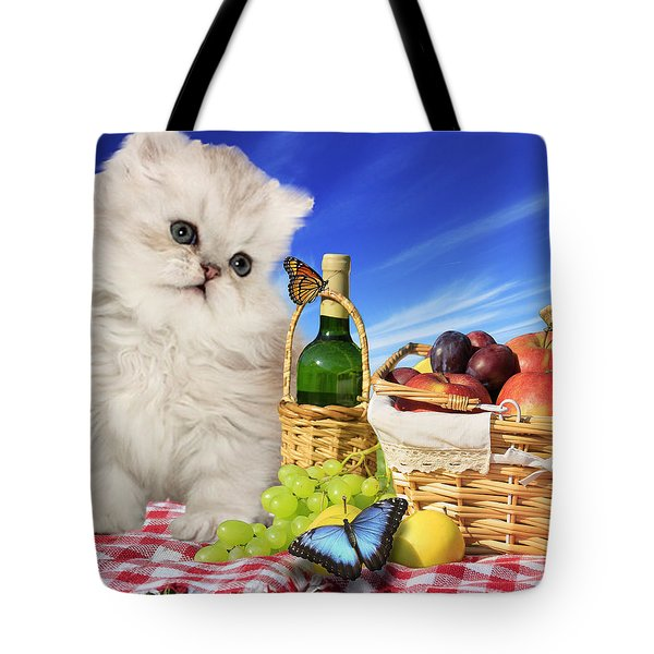 Curious Picnic Tote Bag