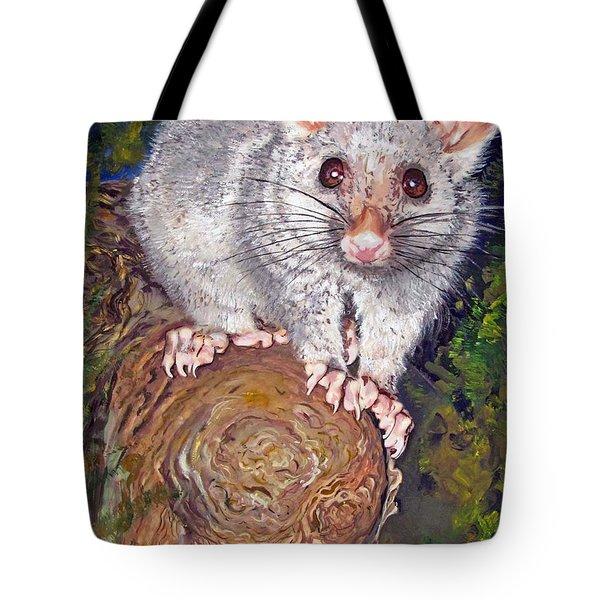 Curious Possum  Tote Bag