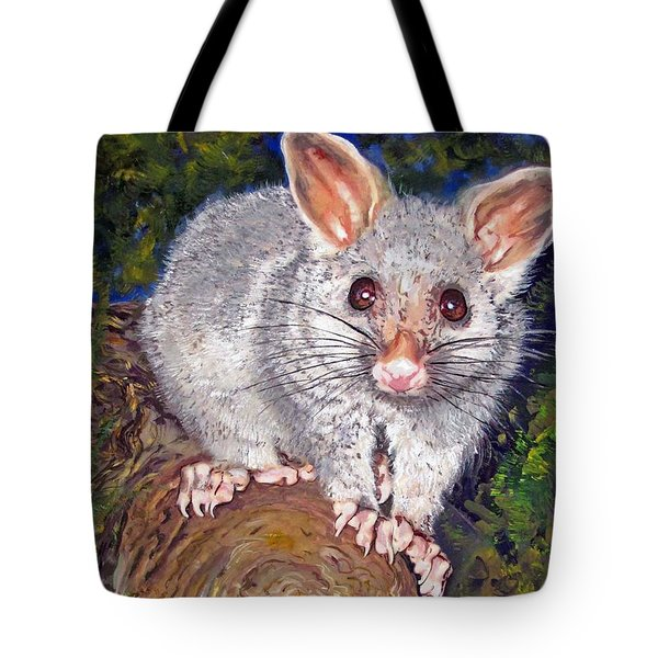 Curious Possum  Tote Bag
