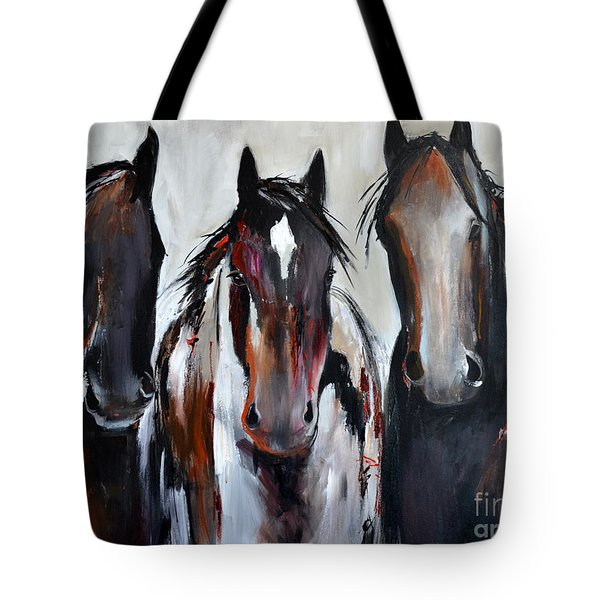 Curious Three Tote Bag by Cher Devereaux