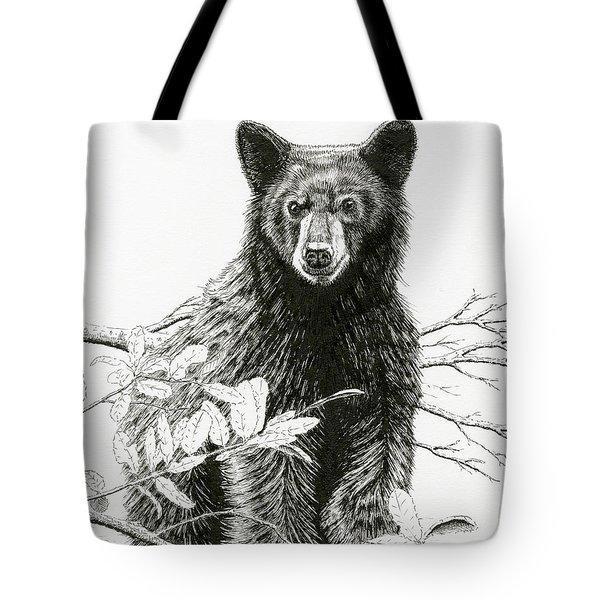 Curious Young Bear Tote Bag